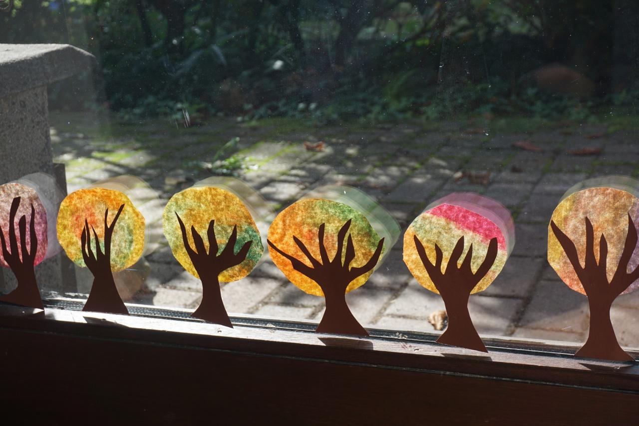 Basteln Mit Kindern Im Herbst An Unserem Fenster Reges Leben