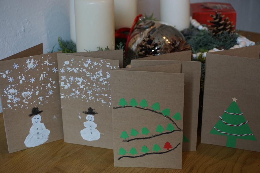 diy weihnachtskarten basteln im advent reges leben. Black Bedroom Furniture Sets. Home Design Ideas