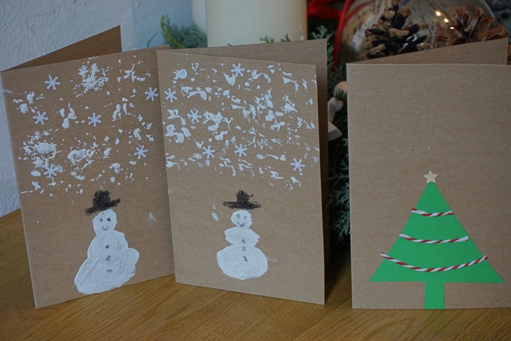 Weihnachtskarten Basteln Tannenbaum.Diy Weihnachtskarten Basteln Im Advent Reges Leben